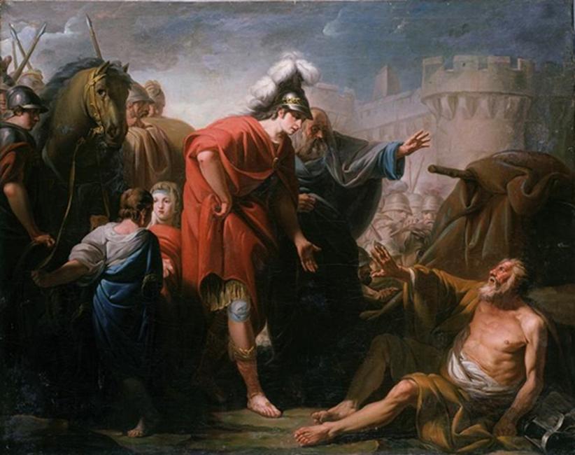 El encuentro entre Alejandro y Diógenes (Public Domain)