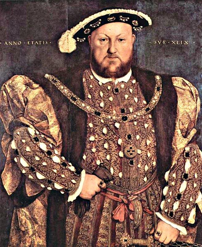 Retrato de Enrique VIII, (circa 1539-1540). Témpera sobre madera, obra del pintor Hans Holbein el Joven (1497/1498-1543). Galleria Nazionale d'Arte Antica de Roma, Italia. (Public Domain)