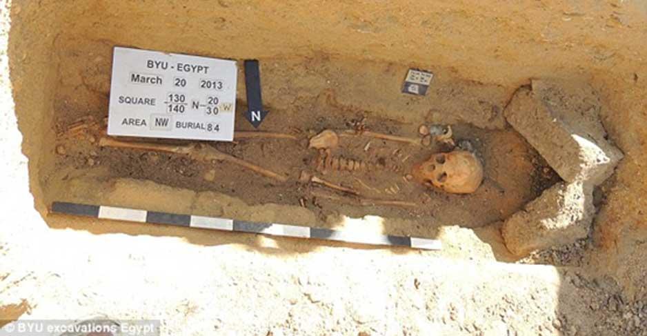 Enterramiento de Fag el-Gamous. Cortesía de Brigham Young University Excavations.