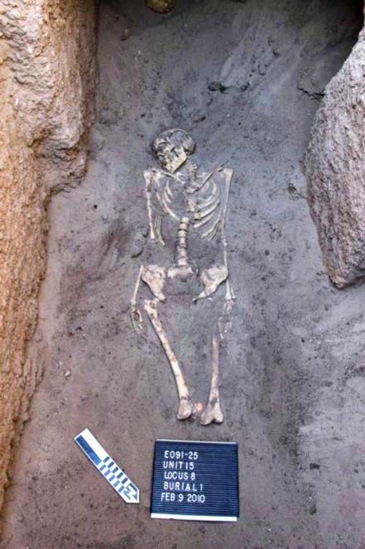 Uno de los enterramientos descubiertos en Tombos, de estilo egipcio. (Fotografía: El Mundo/Purdue University)