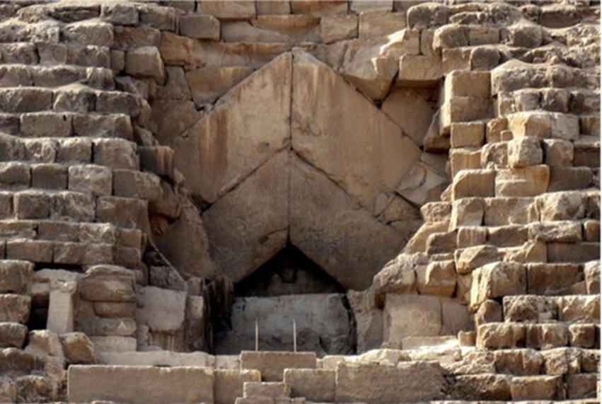 La 'entrada' a la Gran Pirámide por la que se accedió a ella en el 832 d. C. (Olaf Tausch/CC BY 3.0)