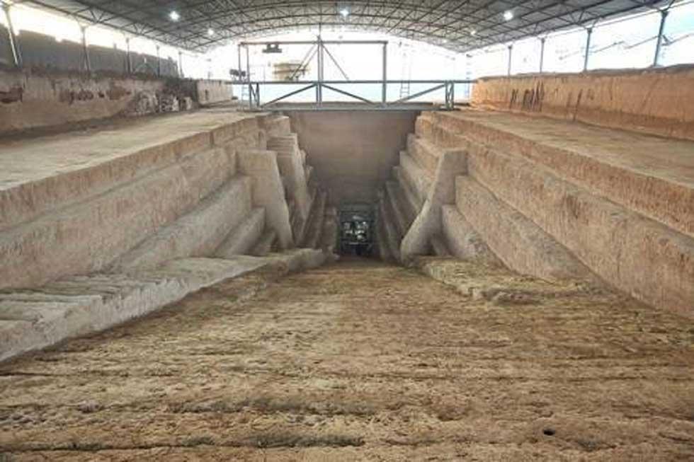 La entrada a la tumba del jefe guerrero chino Cao Cao. Crédito: En.people.cn