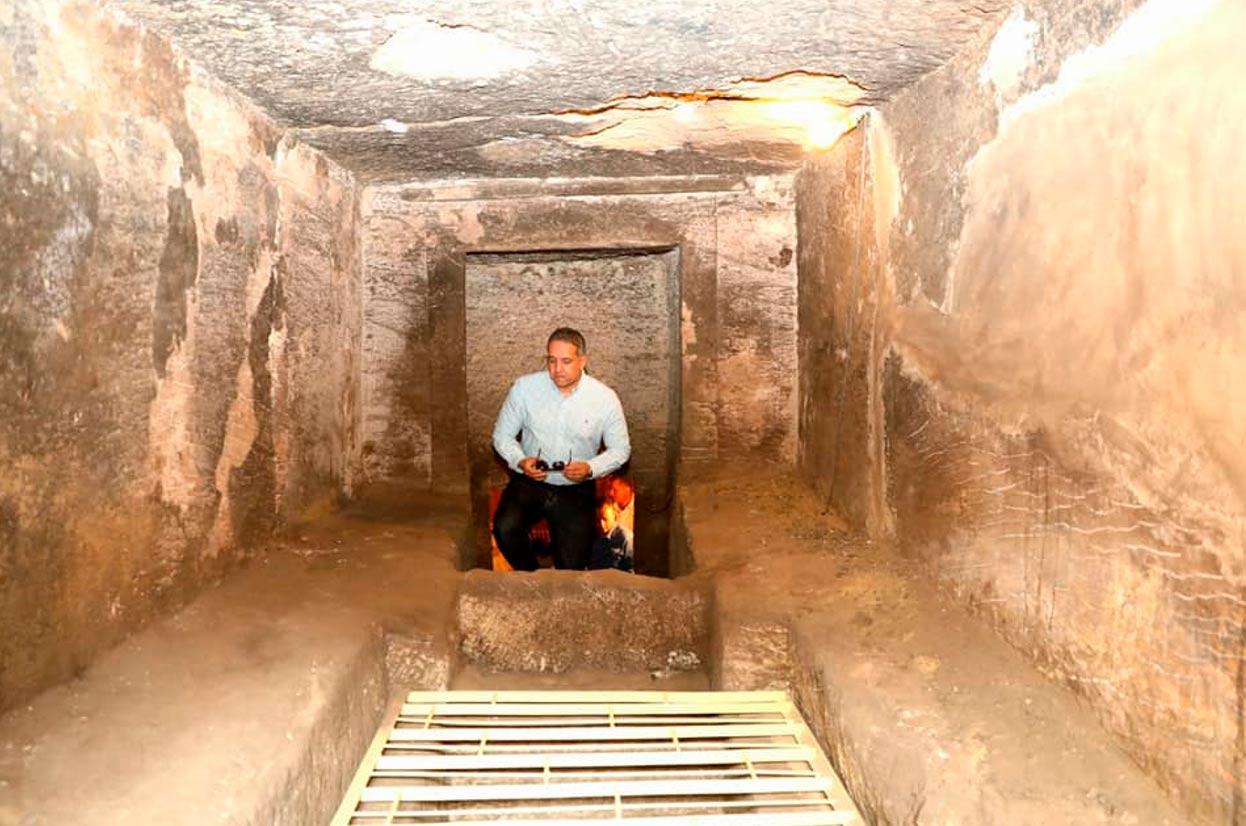 La entrada a una de las tumbas. Crédito: Ministerio de Antigüedades de Egipto