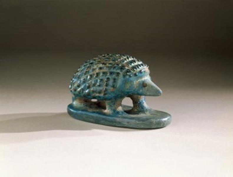 Erizo de fayenza del antiguo Egipto, Imperio Medio. Fotografía: Museo de Brooklyn