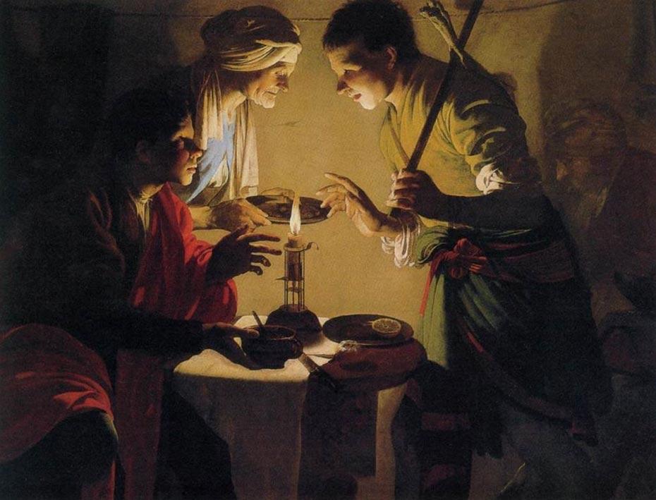 'Esaú vende su primogenitura', óleo de Hendrick ter Brugghen pintado en torno al año 1627. (Public Domain)