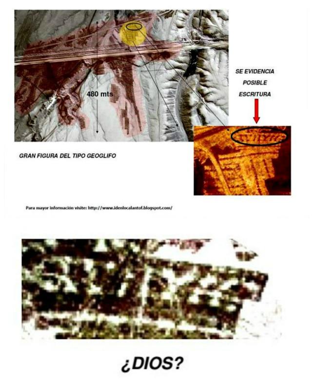 """Detalles del posible texto que aparece escrito sobre la corona del """"Rey Mallku"""". (Fotografías: Alberto Nadgar Rojas)."""