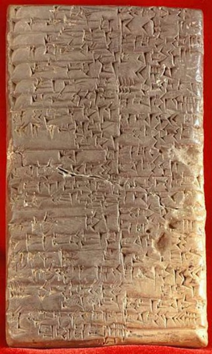 Tablilla sumeria con escritura cuneiforme, uno de los múltiples métodos de escritura de la antigüedad. (Biblioteca del Congreso de los Estados Unidos de América)
