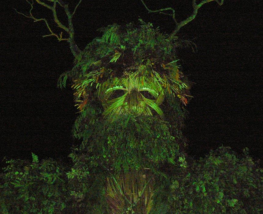Escultura del Hombre Verde en un festival pagano. (CC BY-NC-SA 2.0)