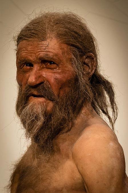 Escultura del aspecto que podría haber tenido Ötzi en vida. (CC BY SA 3.0)