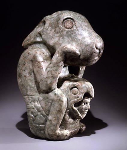 Escultura precolombina de un conejo. (Biblioteca de Investigación y Colección de Dumbarton Oaks).