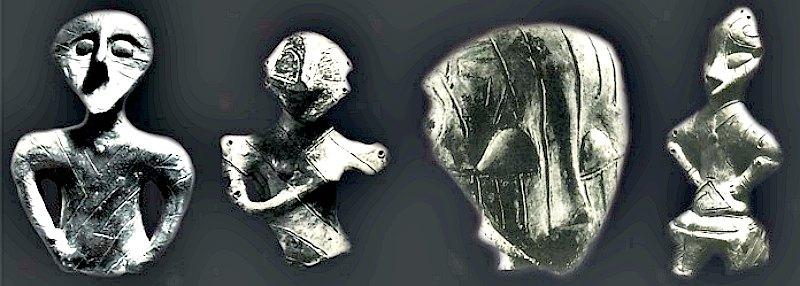 Algunas piezas escultóricas típicas de la cultura Vinča. (Fotografía: Código Oculto).