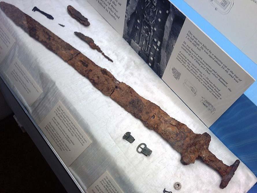 Espada vikinga descubierta en Repton y expuesta en el Museo de Derby. (Roger/CC BY SA 2.0)