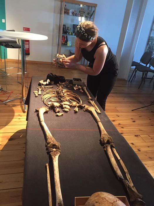 Uno de los esqueletos hallados en Sandby Borg. (Sandby Borg)