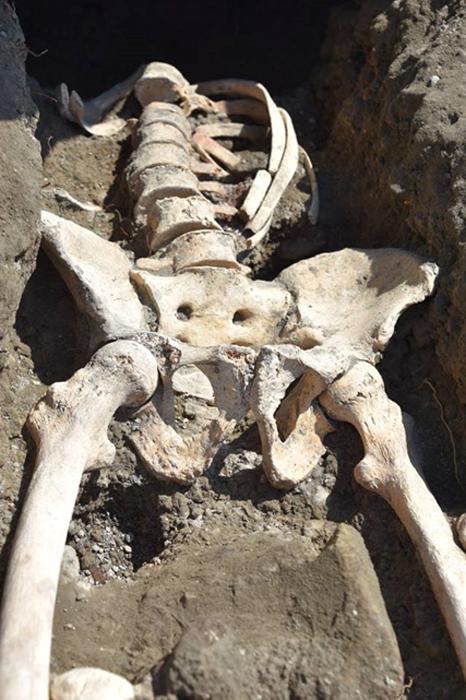 No se encontró ningún cráneo cerca del esqueleto. (Parco Archeologico de Pompeii)