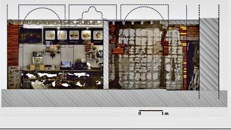 Esquema del pequeño oratorio de la mezquita del siglo X-XI descubierta recientemente en Toledo. (Imagen: Cadena SER)