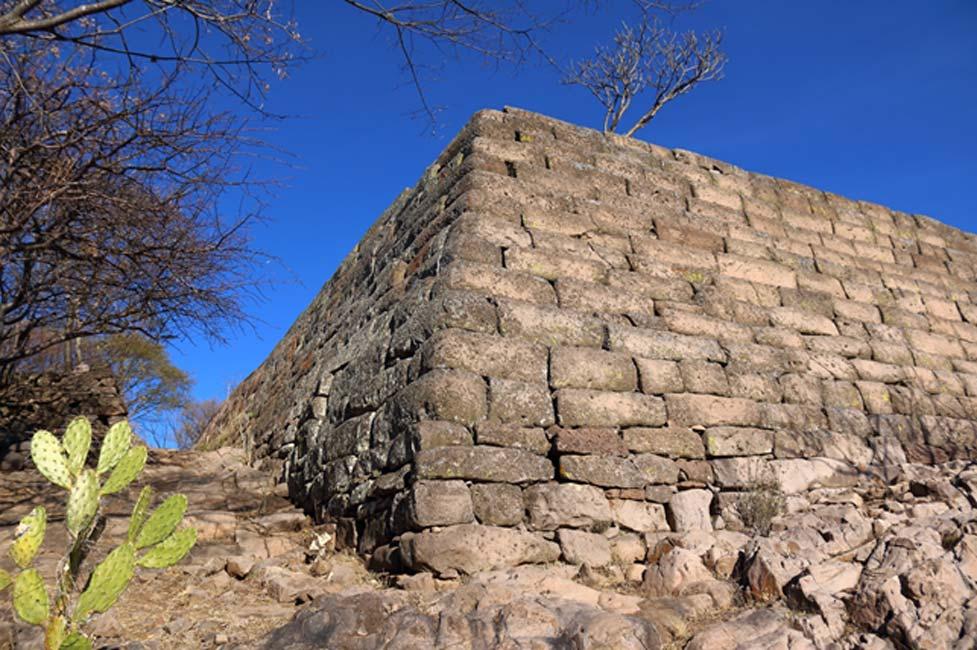 Esquina de la misma estructura en Chimalacatlán. (Marco Vigato)