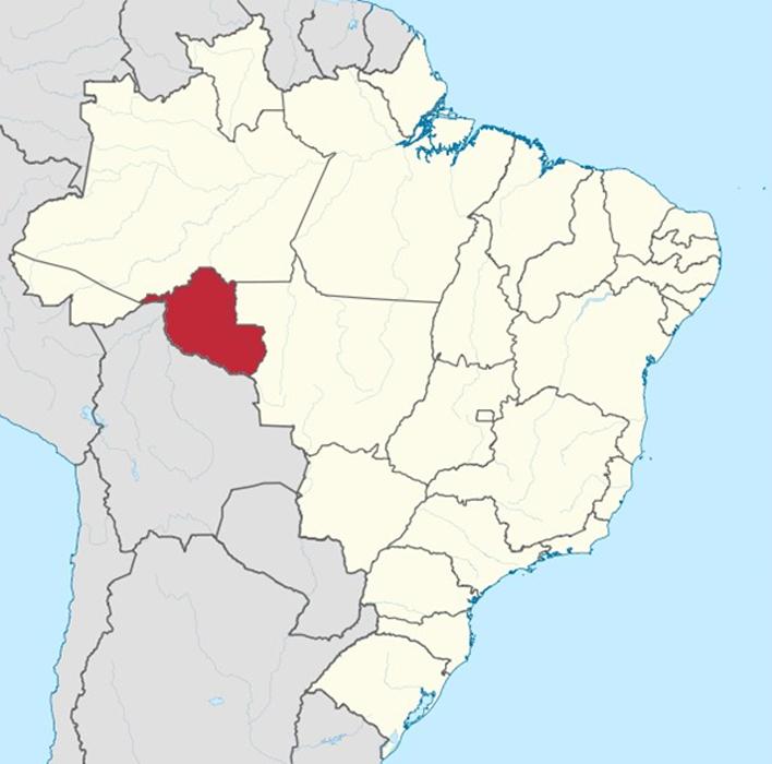 Ubicación geográfica del estado de Rondônia, Brasil. (CC BY-SA 3.0)