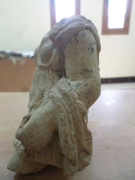 La estatua de Artemisa recientemente descubierta. Crédito: Ministerio de Antigüedades de Egipto