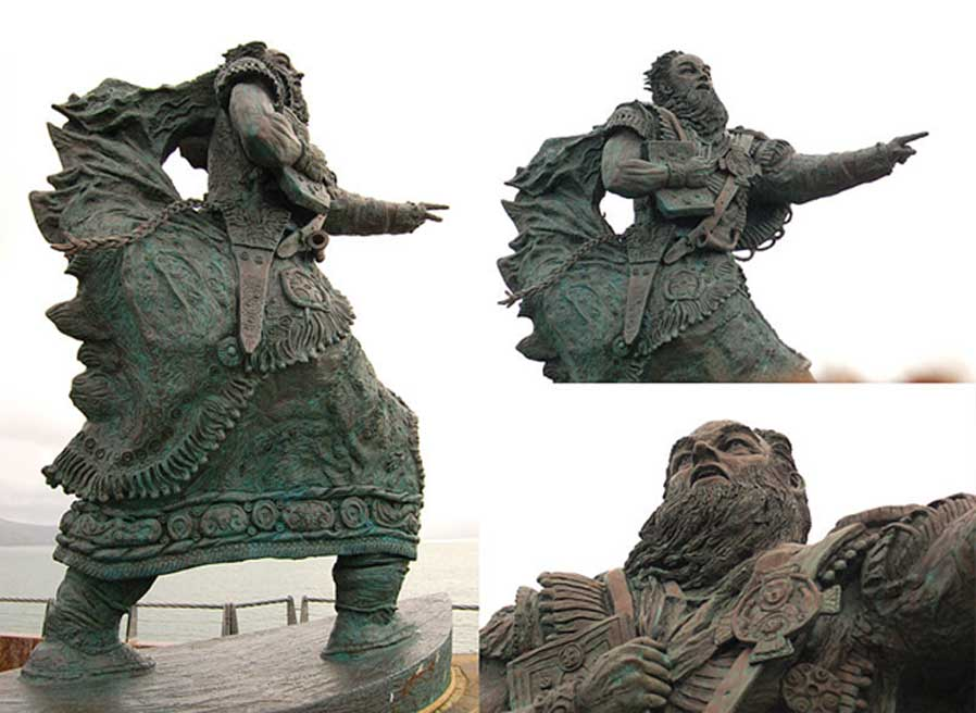Estatua de Brandán en Fenit Harbour. (CC BY SA 3.0)
