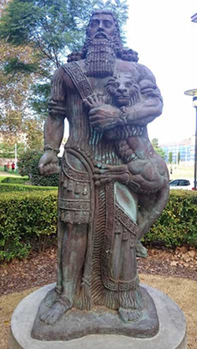 Estatua Gilgamesh Sidney La gloria de Gilgamesh: ¿un héroe real o de ficción? #Anunakis