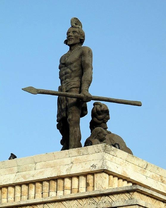 Estatua de Gonzalo Guerrero. (CC BY-SA 3.0)