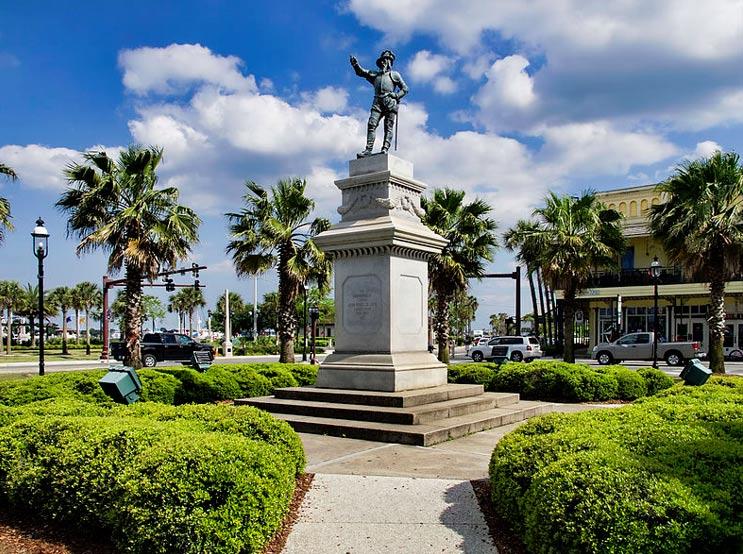 Estatua de Juan Ponce de León, San Agustín, Florida (Public Domain)