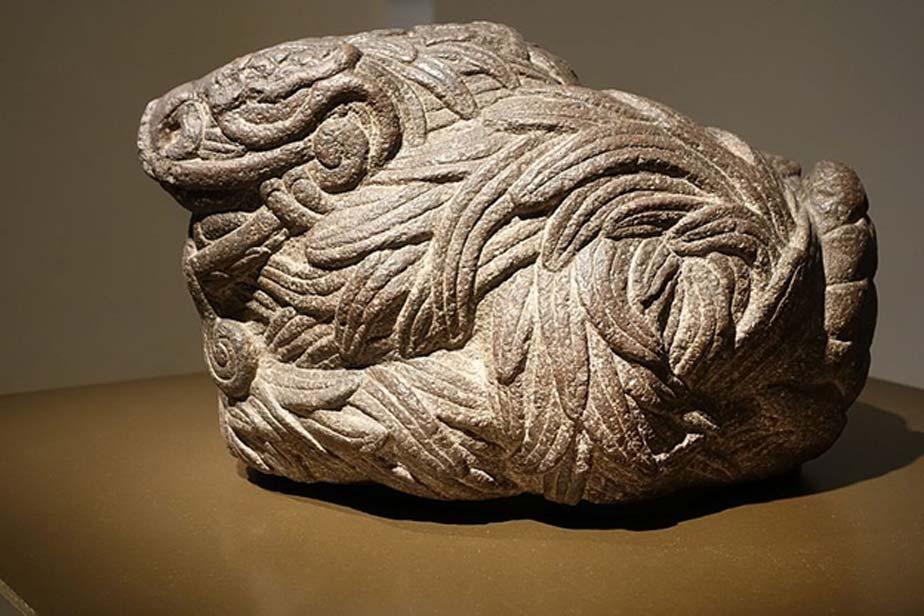 Estatua de Quetzalcóatl como serpiente emplumada. (CC BY SA 2.0)