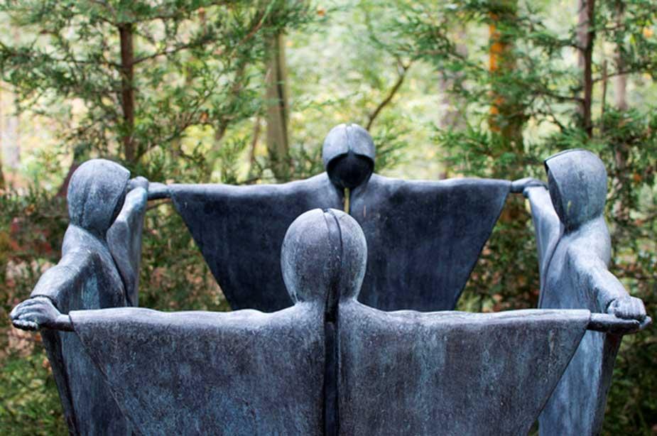 Escultura que representa un ritual pagano. Paul Stevenson/CC BY 2.0