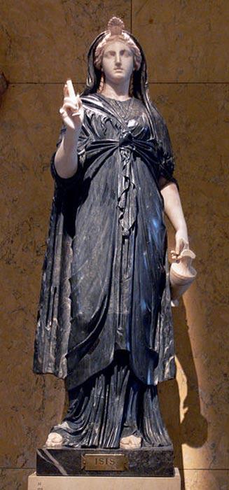 Estatua romana de Isis en mármol blanco y negro, siglo II d. C. (Public Domain)