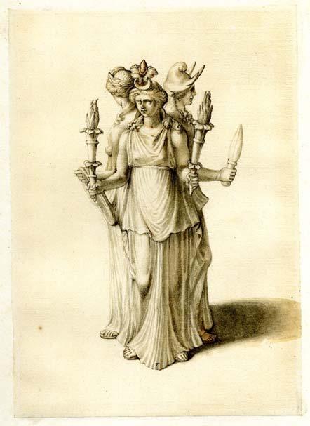Estatuilla de Hécate de principios del siglo XIX, diosa con quien se sincretizó Ereshkigal. (Dominio público)