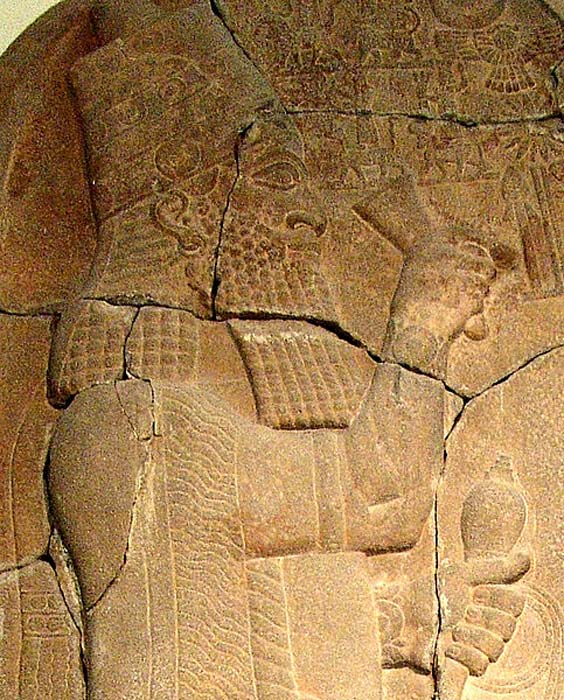 Rey Asarhaddón, detalle de su estela de la victoria. (Public Domain)