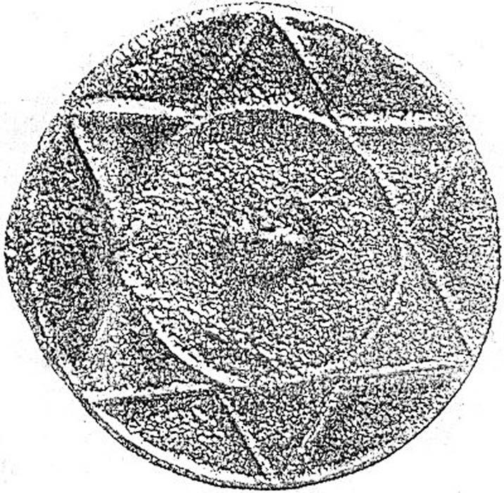 Disco circular de metal con una estrella de seis puntas del contexto del Kanato jázaro, interpretada a veces como judía pero vista por otros como chamánica o pagana. La naturaleza circular del disco podría representar el sol, siendo las 6 puntas sus rayos. (Dominio público)