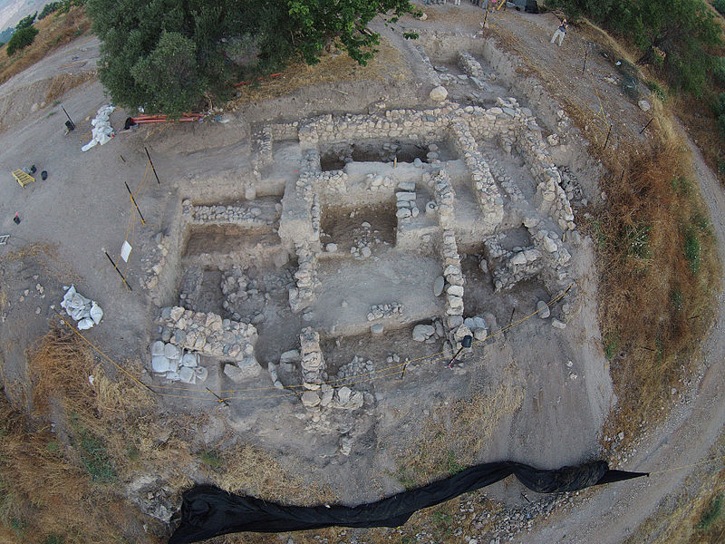 Vista aérea de las excavaciones realizadas en el año 2015 en el yacimiento arqueológico de Abel Beth Maacah. (Tel Abel Beth Maacah Excavations/CC BY SA 4.0)