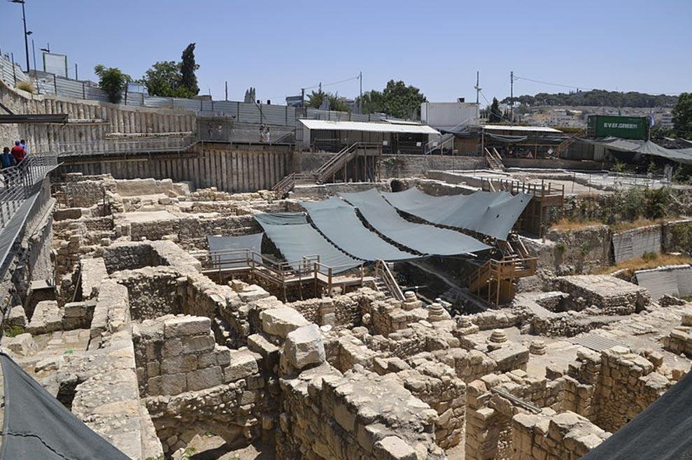 Excavaciones en la Ciudad de David (public domain)