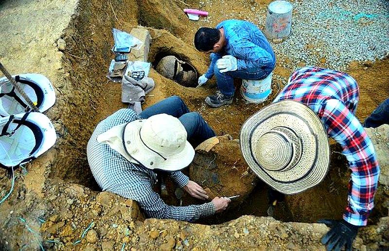 Las excavaciones se han realizado en el municipio colombiano de Itagüí, en el noroeste del departamento de Antioquia. (Fotografía: La Prensa/AFP/Raúl Arboleda)