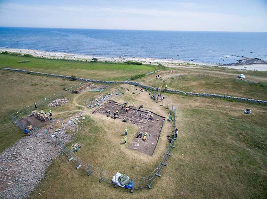 Vista aérea de las excavaciones de Sandby Borg. (Sandby Borg)