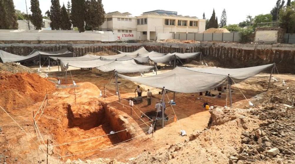 Zona de excavaciones. Fotografía: EYECON Productions, cortesía de la Autoridad de Antigüedades de Israel.