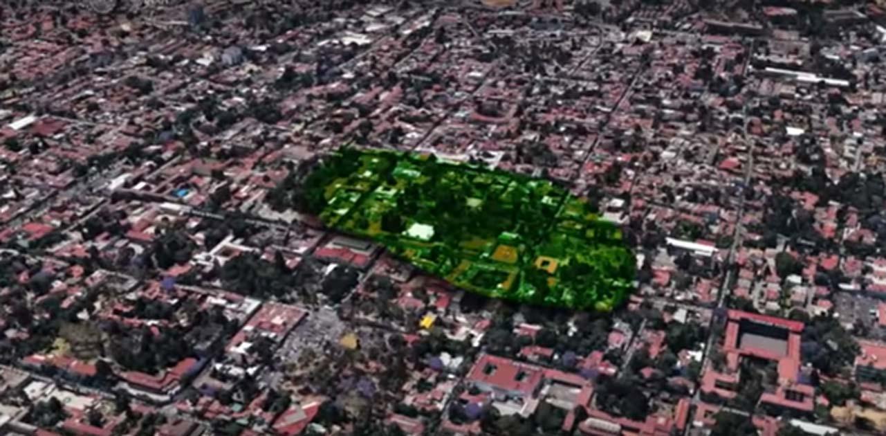 Zona en la que se están realizando las excavaciones arqueológicas en Tlalpan, Ciudad de México. (INAH / Captura de pantalla de Youtube)