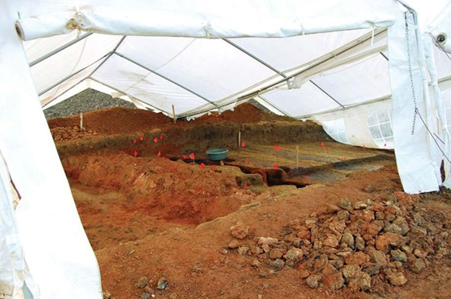Excavaciones cubiertas en el yacimiento. (ibna)