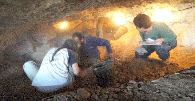 Arqueólogos y especialistas realizando trabajo de campo en las cuevas de la ruta del mar Muerto. (Fotografía: La Gran Época/ Autoridad de Antigüedades de Israel)