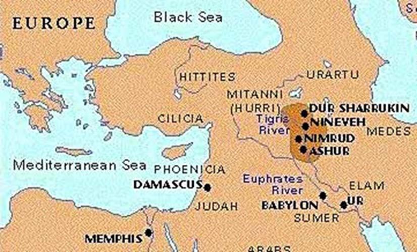 Pocos se atrevían a interponerse en el camino de los conquistadores asirios. Tras derrocar al imperio babilonio, los asirios conquistaron a israelitas, fenicios e incluso algunas regiones del poderoso imperio egipcio.