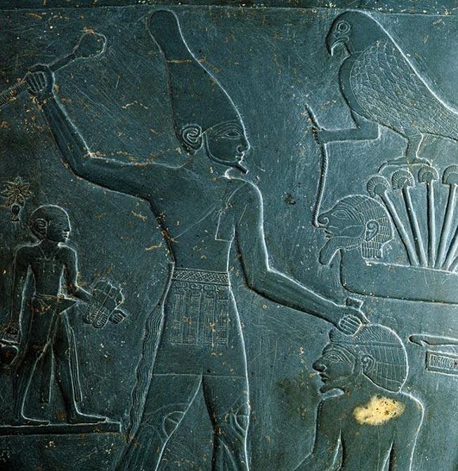 El faraón Narmer: detalle de la paleta de Narmer hallada en Nején (Hieracómpolis), siglo XXXI a. C. (Public Domain)