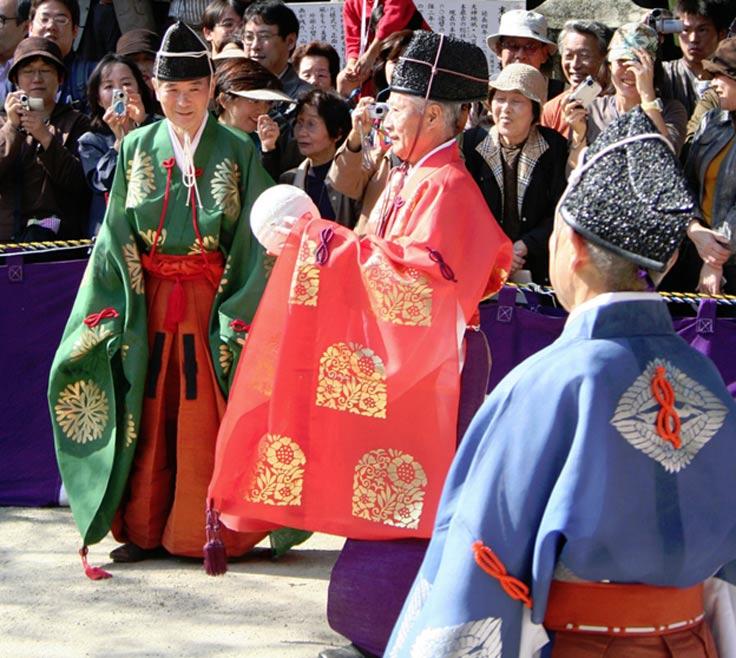 Festival Kemari en el santuario Tanzan, Nara, Japón (CC BY-SA 3.0)