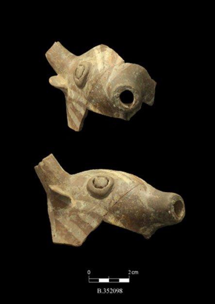 Figuritas cananeas zoomorfas halladas en Tel Burna y datadas en 3.200 años de antigüedad. (Fotografía: The Tel Burna Archaeological Project)