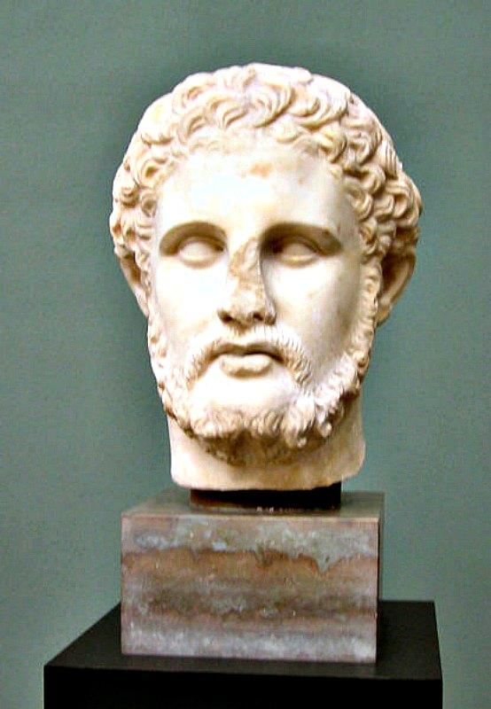 Busto de Filipo II, rey de Macedonia y padre de Alejandro Magno. Museo Ny Carlsberg Glyptotek de Copenhague, Dinamarca. (Public Domain)