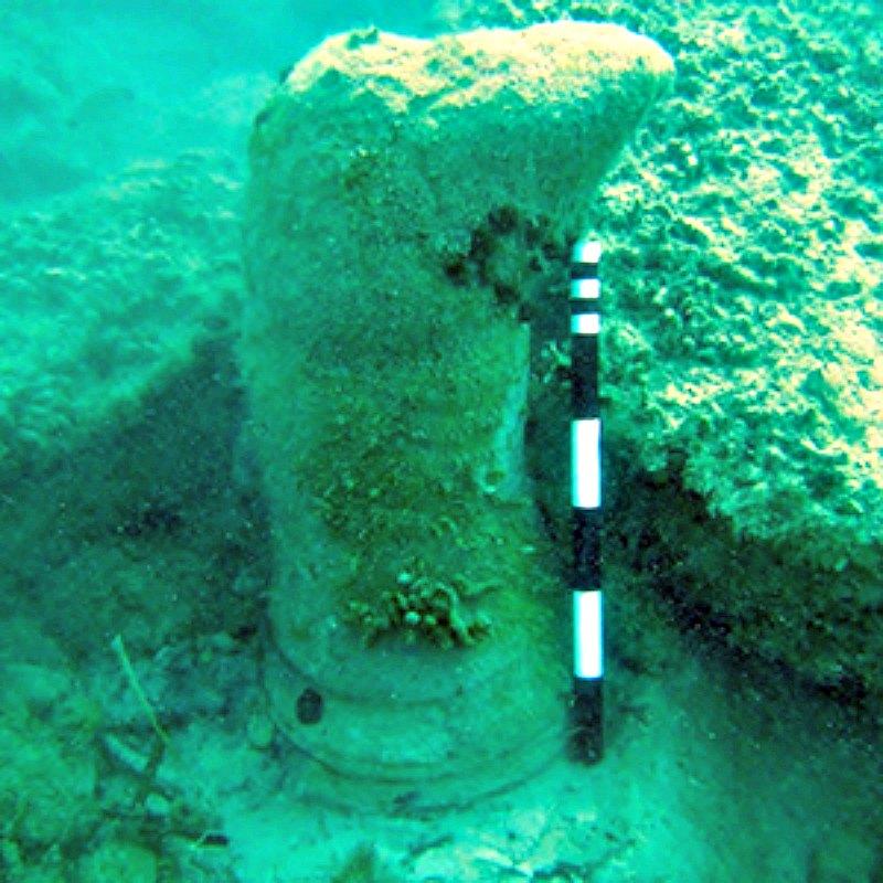 Otra de las singulares estructuras estudiadas en el fondo marino de Zacinto y que según el reciente estudio son formaciones geológicas naturales. (Fotografía: UEA)