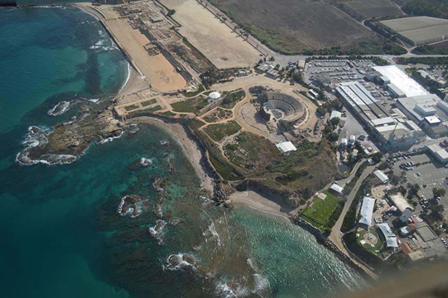 Fotografía aérea de Caesarea Maritima. (Meronim/CC BY SA 3.0)