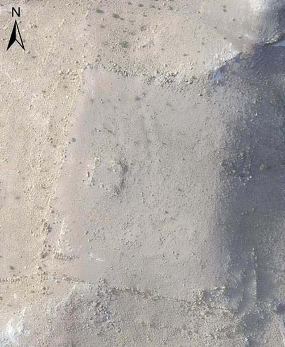 Imagen aérea del monumento recientemente descubierto en Petra, tomada por un dron. (Fotografía: I. Labianca)