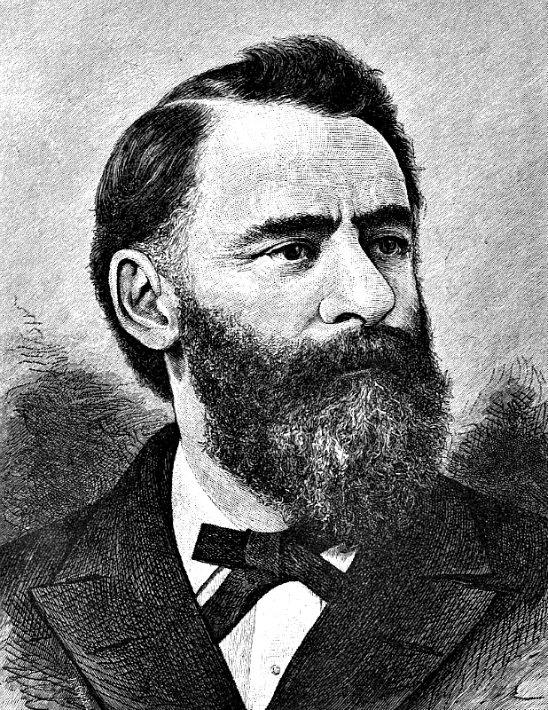 Frederic Ward Putnam. Retrato de autor desconocido realizado en 1886. (Dominio público)