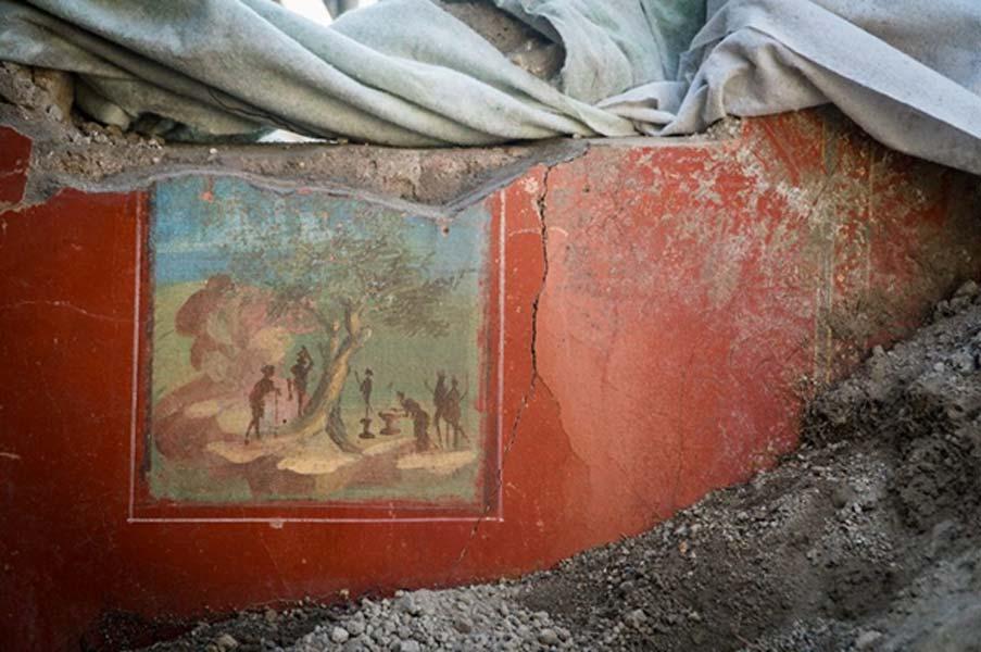 Un fresco de la recientemente redescubierta 'Casa de Júpiter'. (Imagen: Parco Archeologico Di Pompeii)